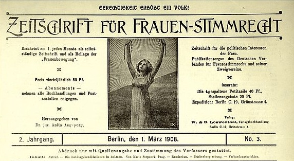 Magazin for women's suffrage, 1908.